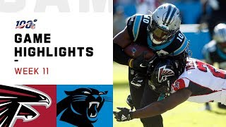 Falcons vs. Panthers Week 11 Highlights | NFL 2019