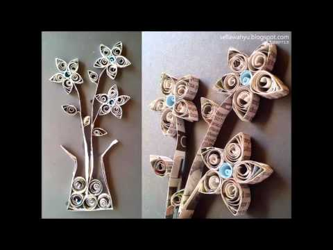 Cara Membuat Bunga Hiasan Dinding