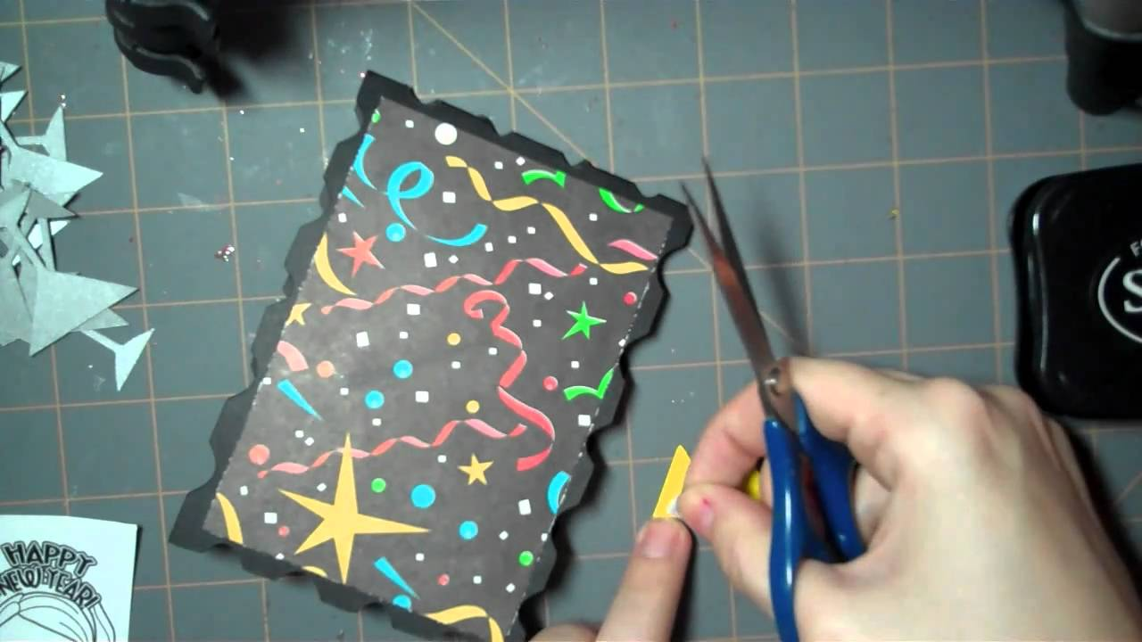 lets get crafty episode 52 happy new year card 2011 youtube