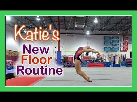 KATIE GETS A NEW GYMNASTICS💃 FLOOR ROUTINE | Flippin' Katie