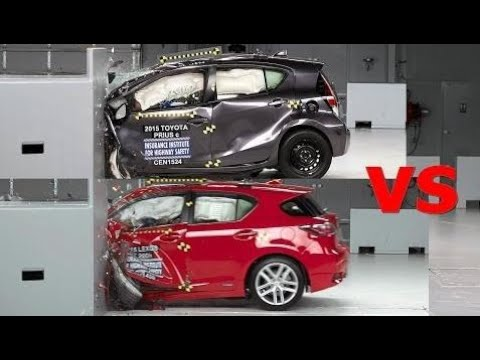 Top Cars Crash Test 2016 Lexus Ct 200h Vs Toyota Prius
