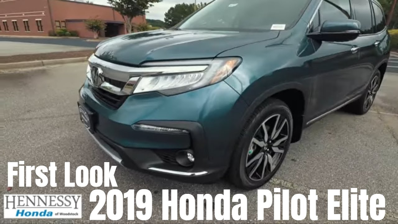 2019 Honda Pilot Elite | First Look. Hennessy Honda Of Woodstock