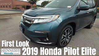 2019 Honda Pilot Elite   First Look   Hennessy Honda