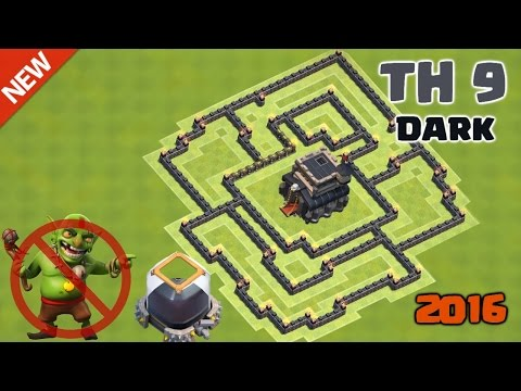Clash of Clans - Town Hall 9 (TH9) Hybrid Base Build ♦ Dark Elixir Farming/Saving Base 2016
