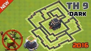 Clash of Clans - Town Hall 9 (TH9) Hybrid Base Build ♦ Dark Elixir Farming/Saving Base 2016
