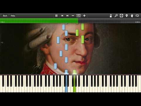W.A. Mozart - Piano Sonata No. 16 (K.545) - Synthesia Piano Tutorial