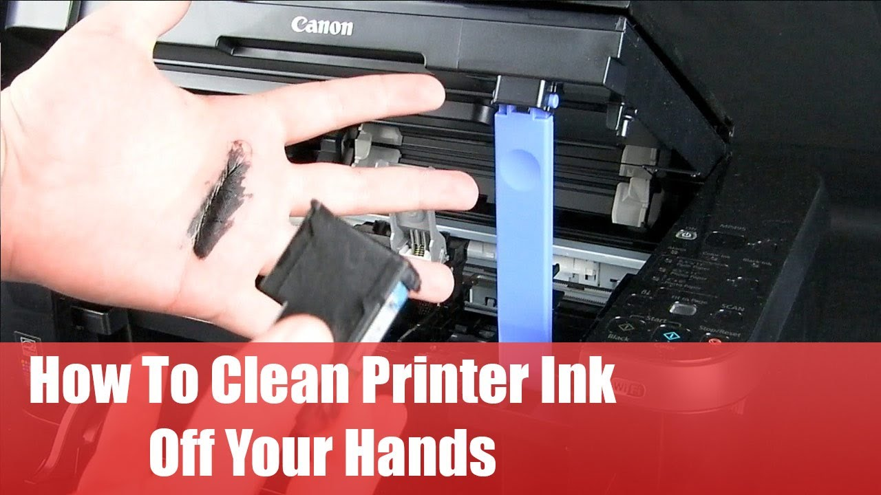 How To Clean Printer Ink Off Your Hands Youtube