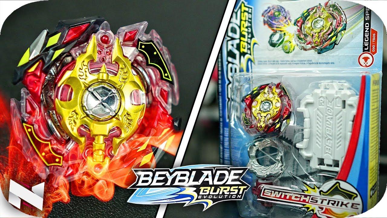 New Hasbro Beyblade Burst Evolution Switch Strike LEGEND SPRYZEN S3 D30//TB06