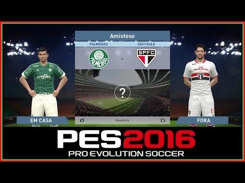 PES 2016 - S.E Palmeiras VS  São Paulo FC -GAMEPLAY-1080p