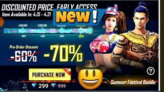Summer festival bundle Available in Store Purchase Summer Festival Bundle Free Fire 🔥🔥