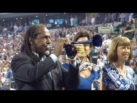 Jazz Trumpeter Freddie Jones playing the National Anthem at Dallas Cowboys opening game