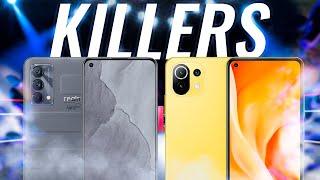 Realme GT Master Edition vs Xiaomi Mi 11 Lite 5G ¡GAMA MEDIA KILLERS!