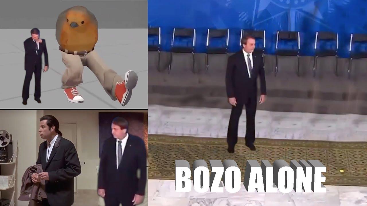 BOZO ALONE - Bolsonaro foi abandonado :(