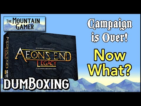 Unboxing • End of Campaign ➤ Aeon's End Legacy【ツ】Fantasy Deck Building Game, Solo Playable |