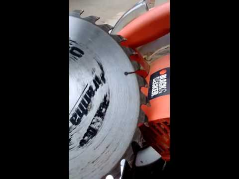 Changing blade on black and Decker miter saw