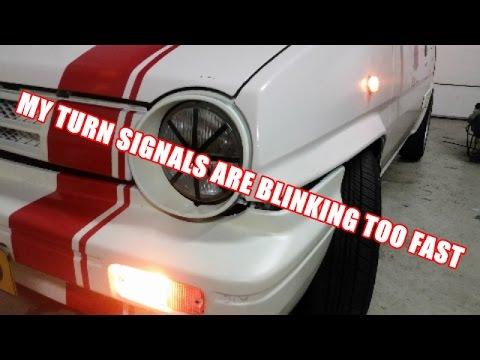 How To Fix Too Fast Blinking Turn Signals  Indicators  Car - Car signals