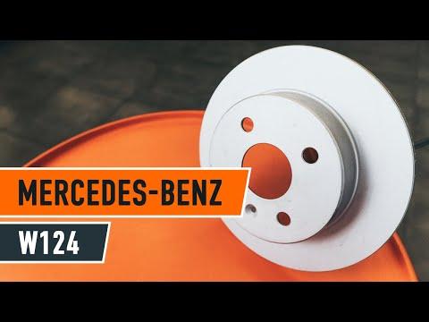 jak wymieni tylne tarcze hamulcowe i szczeki hamulca r cznego w mercedes benz e w124 youtube. Black Bedroom Furniture Sets. Home Design Ideas