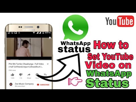 How To Set Youtube Video Direct On Whatsapp Status Without