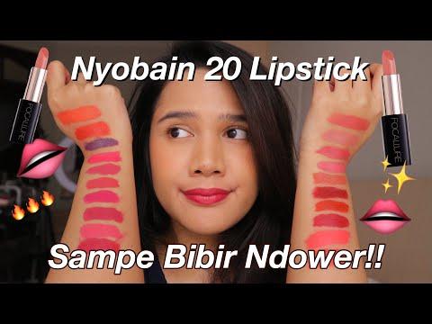 nyobain-20-lipstick-sampe-bibir-ndower!!-||-review-&-swatches-focallure-laquer-lipstick-bahasa
