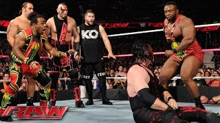Demon Kane vs. Seth Rollins - Lumberjack Match: Raw, October 12, 2015(The Devil's Favorite Demon has the WWE World Heavyweight Champion right where he wants him in this explosive Lumberjack Match main event!, 2015-10-13T04:37:28.000Z)