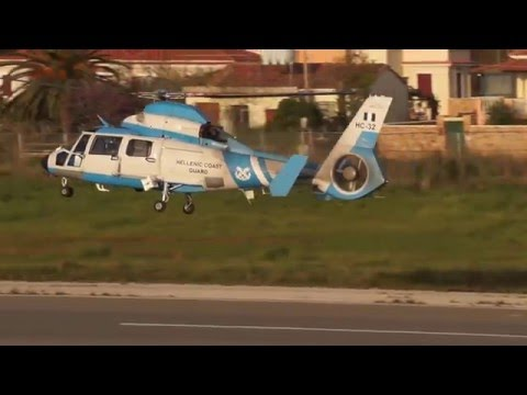 Hellenic Coast Guard Dauphin AS 365N3 landing.