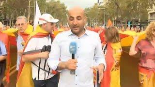معارضو الانفصال في إسبانيا يحيون العيد الوطني في ظل الأزمة الكاتالونية