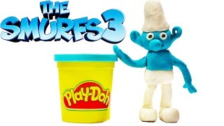 SMURF. How to do Smurf from Cartoon Smurfs the lost village using PlayDoh? \ Stop Motion