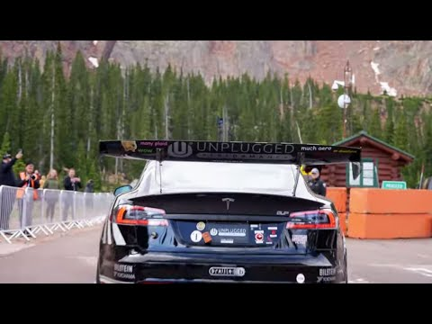 Day 4 Wet Conditions at Pikes Peak in the Tesla Model S Plaid