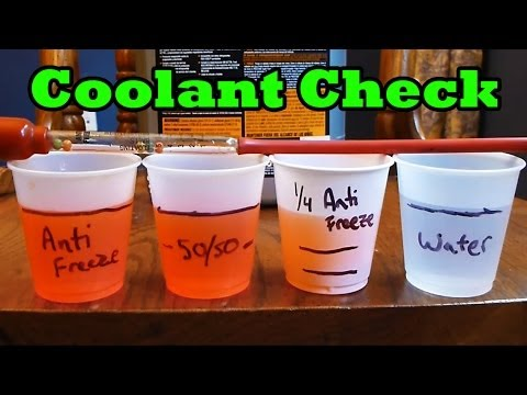 When will your coolant freeze? (How to check engine coolant freeze temp)