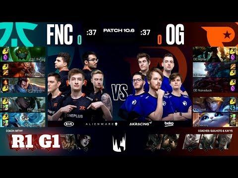 Fnatic Vs Origen - Game 1   Round 1 PlayOffs S10 LEC Spring 2020   FNC Vs OG G1