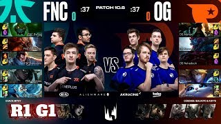 Fnatic vs Origen - Game 1 | Round 1 PlayOffs S10 LEC Spring 2020 | FNC vs OG G1