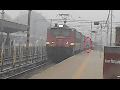 Rajdhani Express during Winters in Allahabad