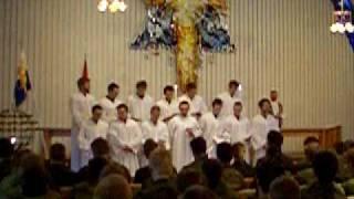 """The great international KavEsk church parade choir """" En stjerne skinner i natt"""""""
