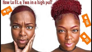 Bomb High Puff Tutorial On Super Short Type 4 Hair