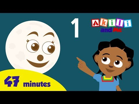 Count the Moon, Sun and Stars! - African Cartoon | 46 minute of educational songs from Akili and Me!