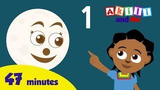 Graf Mond, Sonne und Sterne! - African Cartoon | 46 minute Bildungs-Lieder von Akili und Mich!