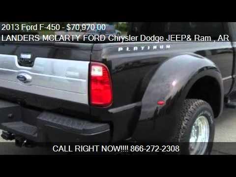 Landers Dodge Benton >> 2013 Ford F-450 DRW Lariat Platinum 4WD - for sale in ...