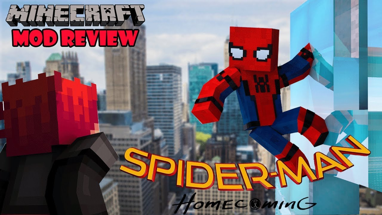 SPIDERMAN HOMECOMING MOD - Minecraft mod 1 11 2 Review