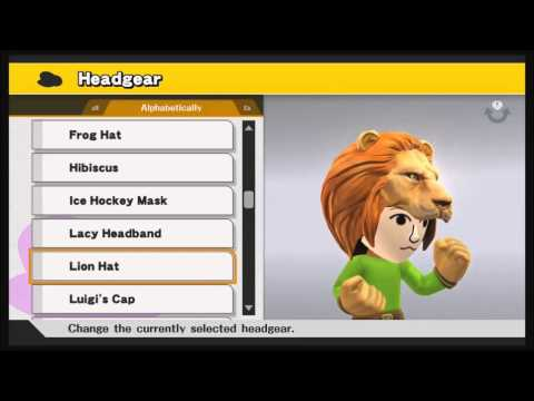 Super Smash Bros. (Wii U) - All Mii Headgear