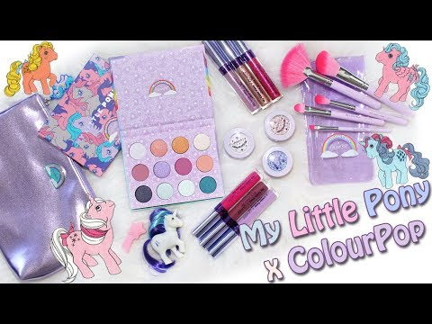 Colourpop x My Little Pony Collection! Swatches & 2 Looks!