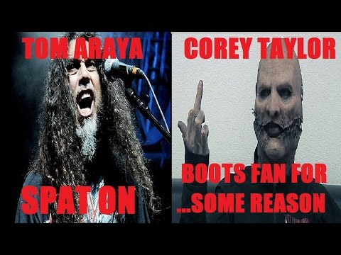 TOM ARAYA SPAT ON at Show - COREY TAYLOR Throws Fan Out For...Doing SOMETHING