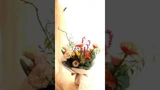 예술의전당꽃집 전시회 축하 꽃다발 장미꽃여귀