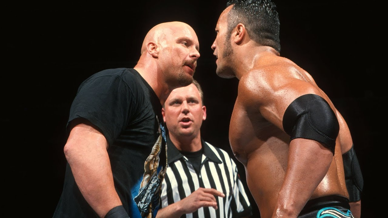 Stone Cold Steve Austin The Rock S Championship Clash At Wrestlemania Xv Youtube