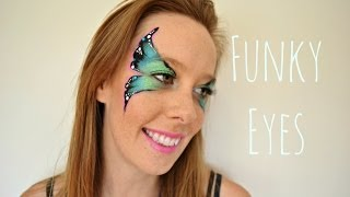 Face Painting Tutorial : Funky Butterfly Eyes