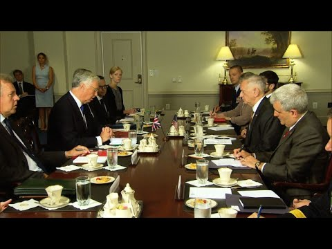 US Defence Secretary meets with his British counterpart