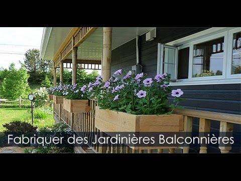 construire des jardini res en bois et concevoir des bacs fleurs youtube. Black Bedroom Furniture Sets. Home Design Ideas