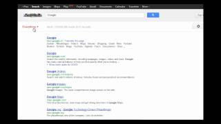 Google interface experiment with search options