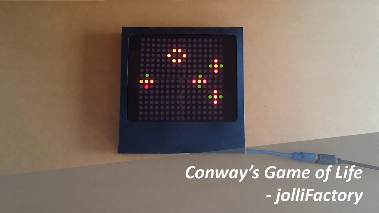 Arduino based bi color led matrix conway s game of life