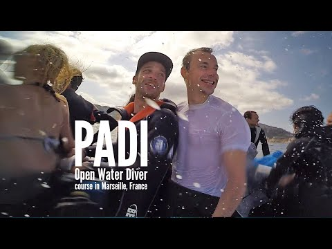 Scuba diving: PADI Open Water Diver course in Marseille, France