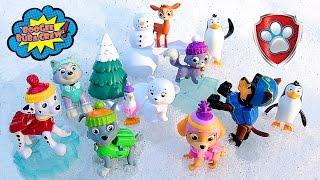 Щенячий Патруль на русском - Paw Patrol Skye & Polar Bear Everest & Reindeer Rocky & Kitty Marshall.